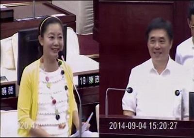 20140904 吳思瑤教郝龍斌市長唱「新北投車站爺爺要回家」兒歌!