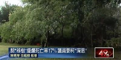 20150311「移樹死亡率17%」議員盼柯先看必要性 [壹電視]