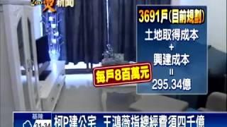 王鴻薇談柯P社會住宅(公共住宅)規劃變錢坑
