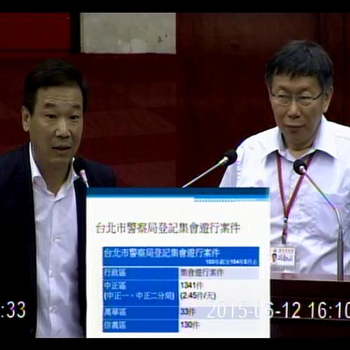 第12屆第1次定期大會市政總質詢