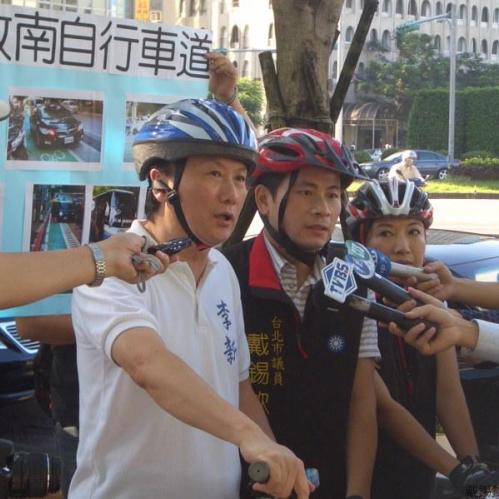 1106敦南自行車道新聞採訪照片