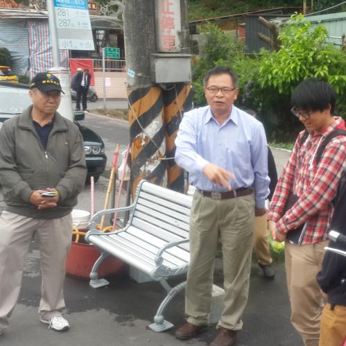 (會勘)大都會客運東湖站前評估設置公車候車亭