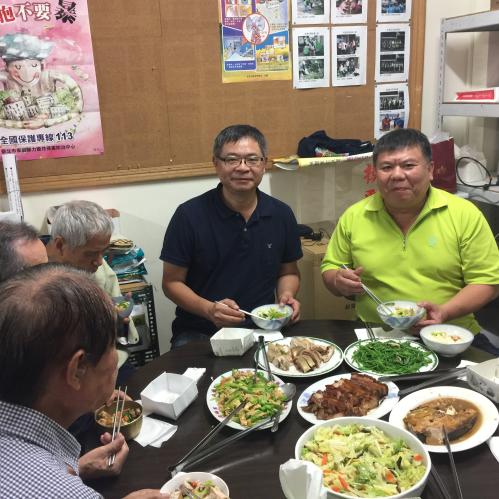 感謝尤樹旺里長邀請出席里內老人共餐